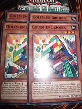 YU-GI-OH! COMMUNE GOLEM EN BRIQUES REDU-FR035 LOT DE 4 (PLAYSET) EDITION 1 NEUF