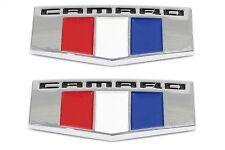 2x OEM Camaro M Emblems 3D Badge Front Right Left Fender Chevrolet F Chrome BK