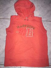 """Cooles Kaputzen-Shirt von""""WE"""", orange mit Motiv,  Gr.134/140"""