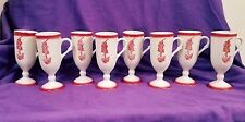SET OF 8 MINI PORCELAIN CHALICE GOBLETS in EXCELLENT CONDITION
