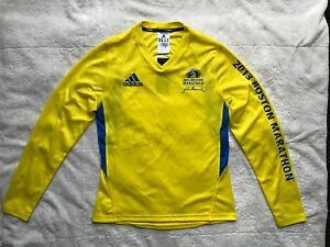 NWT Rare Adidas Climacool 2013 Boston Marathon Jersey Shirt Womens Size Small
