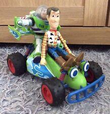 Original Disney Pixar Toy Story Thinkway Free Wheel RC Woody Buzz Figure