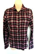 Harajuku Lovers S Flannel Shirt Plaid Button Up Black Purple Gwen Steffani NWT