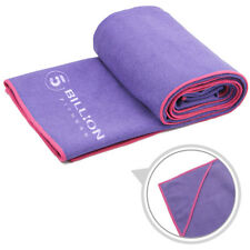 5BILLION Microfiber Hot Yoga Towel with 4 Corner Pockets - Absorbent, Non Slip