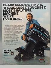 Vintage Magazine Ad Print Design Advertising Black Max Boat Engines