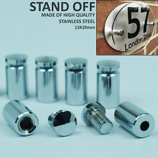 10X Stand Off Fixings bold Glass Acrylic Sign Wall Support Standoff Pins 13X20mm