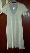 Oasis white knitted casual dress, size 8 RRP £60.00 BNWT