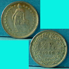 Switzerland 1/2 Franc 1968 km 23a.1