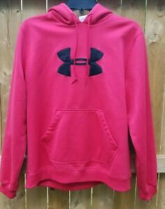 Under Armour Men's Size LG Deep Red Hoodie Sweatshirt
