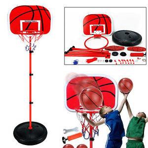 170cm Adjustable Free Standing Basketball Hoop Net Kids Backboard Stand Rack Set