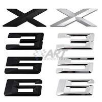 Letras adhesivas logo maletero emblema números compatibles con Bmw modelos X