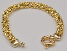 18k Solid Gold Fancy Twisted Rope Link Chain Bracelet 8 Inches 22.2 Grams