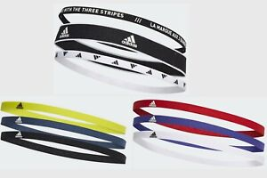New 3 ADIDAS Pack Headband Sports Band Unisex Women Men MULTI Hair elasticate