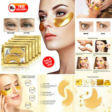 8 Pairs Crystal Collagen 24k Gold Under Eye Gel Pad Face Mask Anti Aging Wrinkle