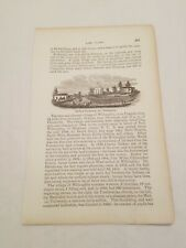 CR23) Medical University Willoughby Lake County Ohio 1858 Engraving