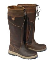 Rhinegold Vermont Long Leather Country Boots, Waterproof, 2 width fittings,