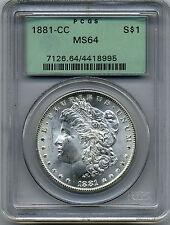 1881-CC MORGAN DOLLAR PCGS MS64 (OLD LABEL)
