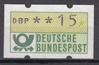 BRD 1981 Automaten-Freimarke 15er Postfrisch gelbe Gummierung ohne Nr. (21374)