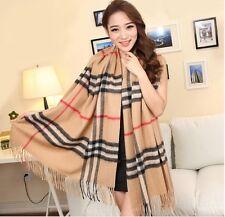 Winter Warm Knit Wool Neck Wrap Pashmina Thick Long Scarf Shawl Stole