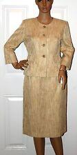 New Suit Studio $200 Oasis Blazer Skirt Suit Career Textured Gold 6 P