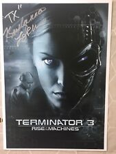 Terminator 3 Poster Signed By Kristanna Loken- TX- Signed In Silver