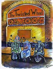Northern Soul; Northern Soul Art; Vespa, Lambretta, Scooters; The Wheel, 1960's