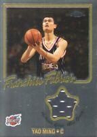 2002-03 Topps Chrome Franchise Fabrics #FF-YM Yao Ming Houston Rockets