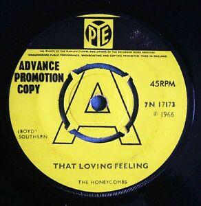 """THE HONEYCOMBS That Loving Feeling UK DEMO 7"""" Joe Meek RGM 7N 17173 VG 1966"""