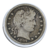 1897 Barber Quarter Very Good Condition