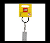 LEGO 2 x 4 Brick - Chrome Silver Key Chain