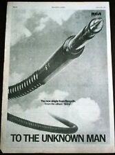 VANGELIS To The Unknown Man 1978 UK Poster size Press ADVERT 16x12""