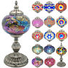 Handcrafted Large Mosaic Turkish Lamp Moroccan Glass Table Desk Bedside Decore