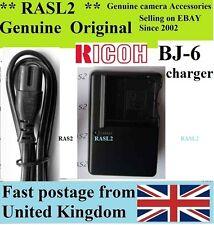 Genuine originale Ricoh bj-6 CARICABATTERIE db-60 db-65 Caplio r3 r4 r5 gx100 gx200