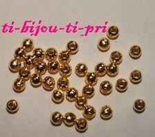 LOT de 150 PERLES RONDES LISSES 4mm DOREES trou 1,5mm création bijoux bracelets