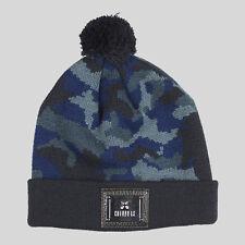 Entree Blue Camo Pom Pom Beanie - Blue & Black Unisex Fashion Winter Hat