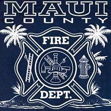 Maui Fire Department Firefighter Hawaii T-shirt  3XL
