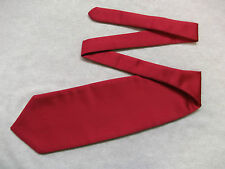 RED WINE CRAVAT BOYS SILKY RUCHE PAGE ASCOT SCRUNCHIE SINGLE END 4-10