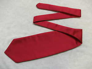 Boys Cravat WEDDING Tie FORMAL PARTY One Size SINGLE END RED WINE