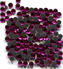 Rhinestones 3mm 10ss   FUCHSIA  Hot Fix Iron on   1  Gross