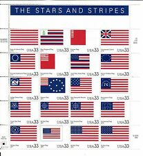 {Bj stamps} 3403 Stars and Stripes. 33¢ Mnh sheet of 20. Issued in 2000