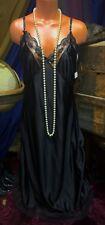Vintage NOS Retro Sissy Nylon Plus Slip Lace Lingerie Gown XXL Negligée 42 2x
