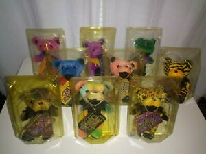 Grateful Dead Beanie Baby Bears First Edition 9 Piece Collection_Rare