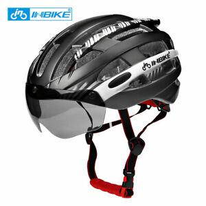 INBIKE Cycling Helmet with Goggles Ultralight MTB Bike Helmet Men Women