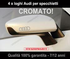 ADESIVI  SPECCHIETTI AUDI ANELLI CROMATI - A3 A4 A5 A6 Q3 Q5 Q7 TT S-line S3 S4