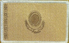Kazakhstan Flag Patch With VELCRO® Brand Fastener Tan Version White Border #03