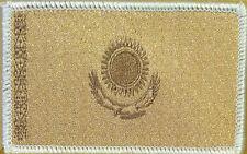 Kazakhstan Flag Patch With VELCRO® Brand Fastener Tan Version White Border #03