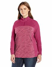 Columbia - Womens 1X - NWT - Red Orchid Pink Outer-Spaced II Half Zip Shirt