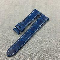 22mm/18mm Genuine Blue Alligator Crocodile Leather Skin Watch Strap Band #WT13