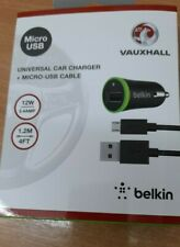 GENUINE VAUXHALL/BELKIN CAR CHARGER AND MICRO-USB CABLE