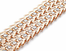 Donna Oro Strass Cintura Catenina Da Girovita Strass Diamanti Buckle New 648